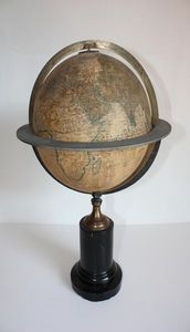 ANTIQUITES LE SAINT GEORGES - globe terrestr maison delamarche - Globus