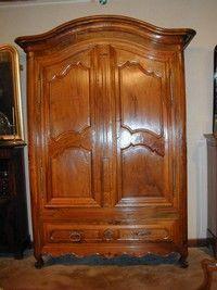 Au Mobilier Vendéen - armoire louis xv bordelaise - Kleiderschrank