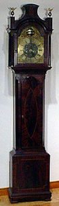 KIRTLAND H. CRUMP - inlaid mahogany longcase clock by barnife, cockerm - Standuhr