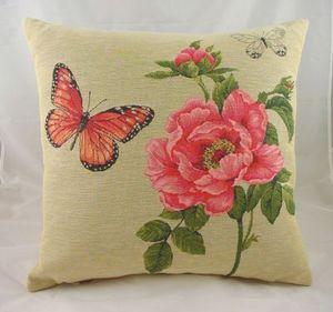 Evans Lichfield - 18 butterfly rose cushion - Kissen Quadratisch
