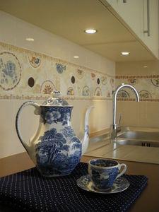 Mosaïque Patatras - fresque mosasique cuisine - Mosaik
