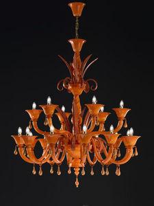 Gabbiani - chioggia 12+6 luci ø 130 h 150 - Kronleuchter Murano