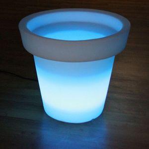 BONA REVA - pot extérieur ø66 x h62 cm + telecommande - Leuchtblumentopf