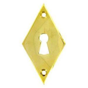 FERRURES ET PATINES - entree de clef losange en laiton pour porte d'int - Schlüsselloch
