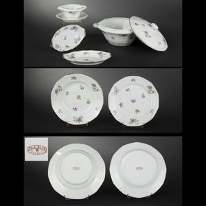 Expertissim - service de table en porcelaine de limoges à décor  - Platte