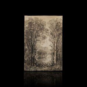 Expertissim - maxime lalanne. paysage de sous-bois près d'un ét - Landschaft