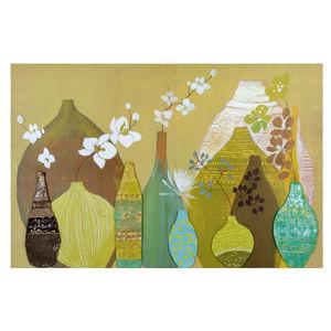Maisons du monde - toile vases thaï grand modèle - Zeitgenössische Gemälde