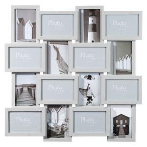 MAISONS DU MONDE - cadre 16 vues relief gris - Mehrbilderrahmen
