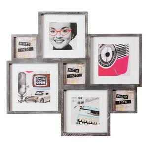 MAISONS DU MONDE - cadre gris 7 vues indus - Mehrbilderrahmen