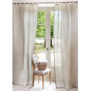 Maisons du monde - rideau brocante coeur - Gardinen Mit Knoten