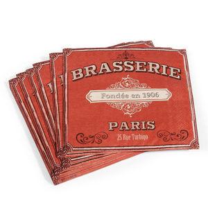 Maisons du monde - serviette brasserie x 20 - Papierserviette