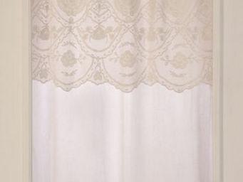 Coquecigrues - rideau à cantonnière béguine ivoire - Fertigvorhänge