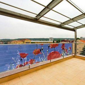 PRISMAFLEX international - brise-vue balcon coquelicot 5m - Hecke