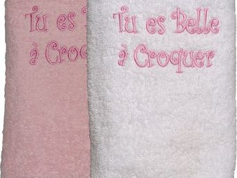 SIRETEX - SENSEI - drap douche 70x140 cm belle a croquer - Kinder Handtuch