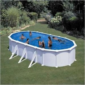 GRE - piscine varadero 610 x 375 x 120 cm - Pool Mit Stahlohrkasten