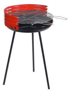 Dalper - barbecue à charbon rond en acier 50x79cm - Holzkohlegrill