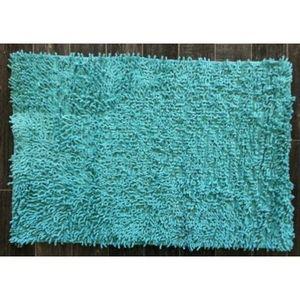 TODAY - tapis salle de bain à mèche bleu ciel - Badematte