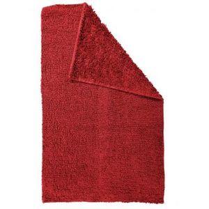 TODAY - tapis salle de bain reversible - couleur - rouge - Badematte