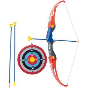 PARTNER JOUET - set de tir à l'arc avec cible arc et flèches - Bogen