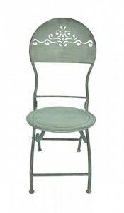 Demeure et Jardin - chaise patine zinc - Gartenstuhl