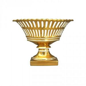 Demeure et Jardin - coupe de style empire dorée - Deko Schale