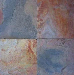Marbrerie Des Yvelines - ardoise- raja red - Platte Aus Naturstein
