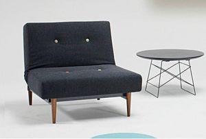 INNOVATION - fauteuil design fiftynine noir convertible lit 115 - Niederer Sessel