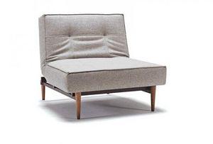 INNOVATION - fauteuil design splitback gris convertible lit, pi - Niederer Sessel