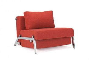 INNOVATION - fauteuil lit design sofabed cubed rouge convertibl - Schlafsofa