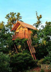 La Cabane Perchee - bambou - Baumhaus