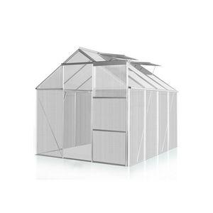 WHITE LABEL - serre polycarbonate 260 x 190 cm 5 m2 - Gewächshaus