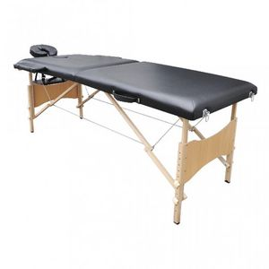 WHITE LABEL - table de massage 2 zones noir - Massagetisch