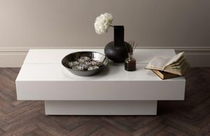 Kelly Hoppen - lacquer art coffee table - Rechteckiger Couchtisch