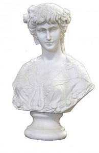 Demeure et Jardin - buste femme 18éme marbre blanc - Büste