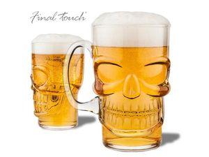 WHITE LABEL - le verre à bière tête de mort shooter insolite rec - Halbliterglas