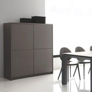 Calligaris - buffet password de calligaris grège 4 portes - Hoches Anrichte