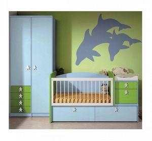WHITE LABEL - chambre bébé évolutive en chambre d'enfant keanu. - Kinderbett