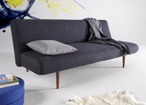 INNOVATION - canape design unfurl noir nist convertible lit 20 - Klappsofa