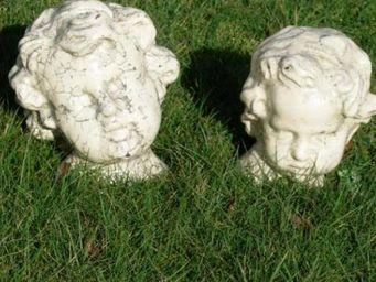 TERRES D'ALBINE - tête d'ange - Skulptur