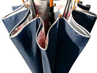 DE JOUY - bleu et rouge - Regenschirm
