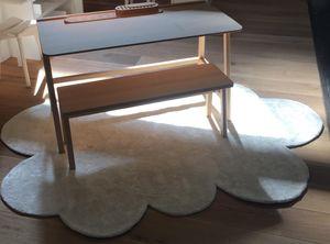 Pilepoil : Fausse Fourrure - tapis nuages balnc - Kinderteppich