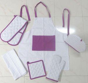 ITI  - Indian Textile Innovation - small dots - d.pink - Küchenschürze