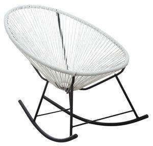 Aubry-Gaspard - fauteuil à bascule en polyrésine blanc - Schaukelstuhl
