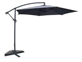 WHITE LABEL - parasol déporté gris 3 m - farniente - l 300 x l 3 - Ampelschirm