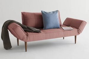 WHITE LABEL - innovation living canape lit design zeal rouge sof - Klappsofa
