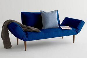 WHITE LABEL - innovation living canape lit design zeal velvet ro - Klappsofa
