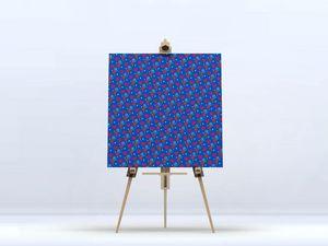 la Magie dans l'Image - toile héros petits coeurs bleu - Digital Foliendruck