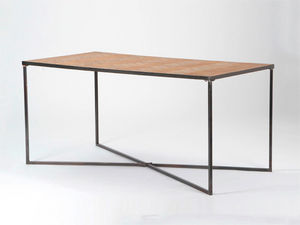 Amadeus - table à manger parquet - bois clair - Rechteckiger Esstisch
