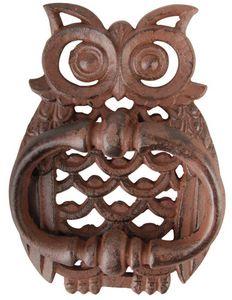 Esschert Design - heurtoir de porte chouette en fonte - Türklopfer