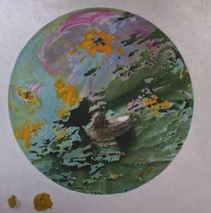 Fabienne Colin - occulus - Zeitgenössische Gemälde